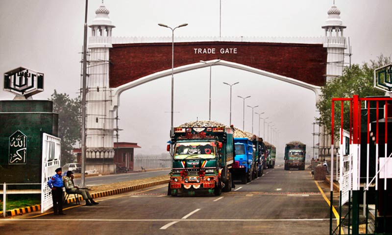 The South Asian neighbours agreed to allow round-the-clock movement of trucks and containers through Wagah-Attari border. – File Photo