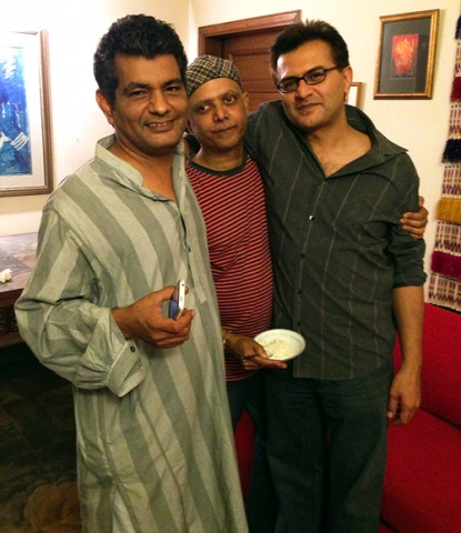 The author with Hanif and Musadiq before Musadiq left for treatment in the US, March 2013.