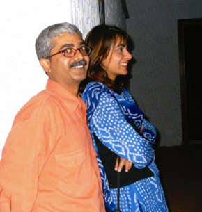 Musadiq with his wife Shehla at the 2nd KaraFilm Festival 2002.
