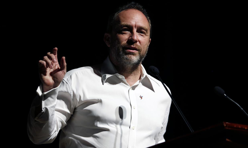Wikipedia founder Jimmy Wales attends the international Wikimedia  conference in Hong Kong August 9, 2013
