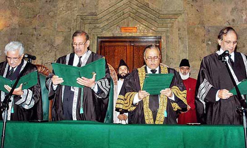 At least two of the nominees for post of judge of the Islamabad High Court belong to the group of judges shown the door by Supreme Court on July 31, 2009, for being appointed by the 'de facto' chief justice of Pakistan Abdul Hameed Dogar. — File Photo by APP