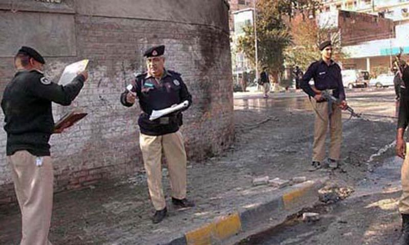 """""""It appears to be a militant attack. The gunmen killed the lone policeman on duty outside the Hindu temple and then escaped,"""" Faisal Mukhtar, a senior police official, told AFP . — File Photo"""