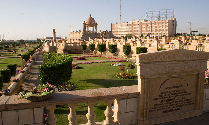 Bagh Ibne Qasim, Karachi's biggest park, has non-indigenous trees.—File photo