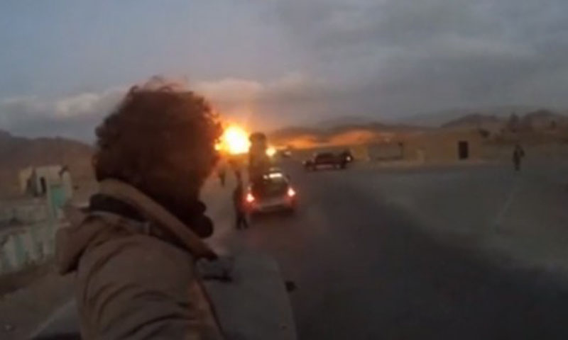 Screen shot of a video uploaded by Javier Colorado shows Mastung blast.