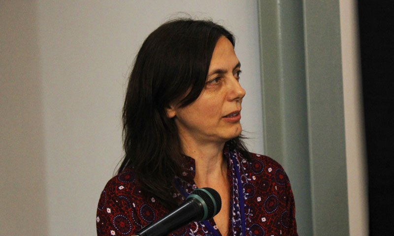 Annachiara Bartolini ( professor, MNHN) is an expert on micropaleontology. She has contributed his research in invertebrate fossils from Sindh. – Photo by author