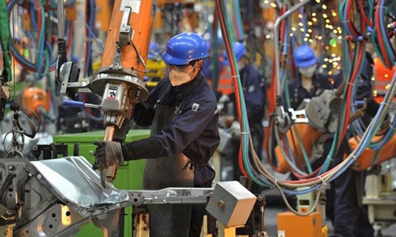 HSBC's preliminary reading for its purchasing managers' index, which tracks manufacturing activity in China's factories and workshops, contracted in February to its lowest level in seven months. - File Photo