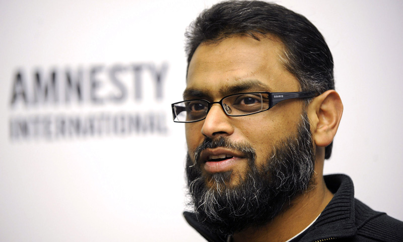 A file picture taken in 2010, shows former British Guantanamo Bay detainee Moazzam Begg speaking during an Amnesty International press conference in Berlin. – AFP Photo
