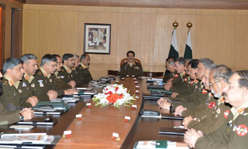 Corps commanders say airstrikes may continue: sources