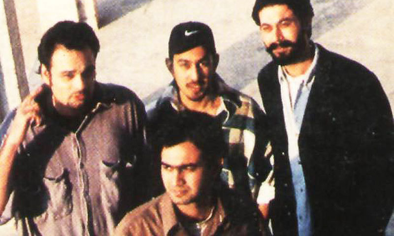 One of the early Lahore-based parallel bands was The Trip (in 1995). The group disbanded after its lead singer Babar Khan (right) was shot dead in 1997.