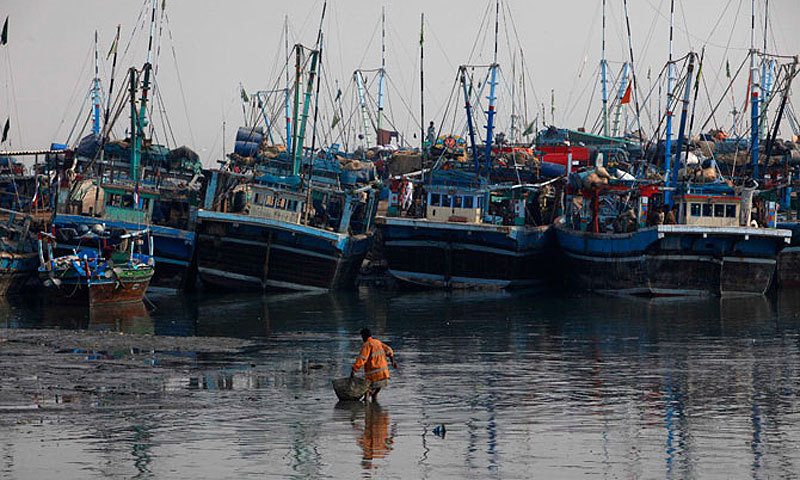 A view of Ibrahim Hyderi fishing harbour. — Photo by Reuters