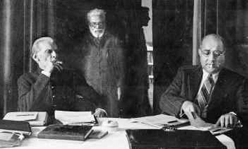 Liaquat Ali Khan (right) with founder of Pakistan, Mohammed Ali Jinnah. Ali, a Mohajir, became Pakistan's first Prime Minister.