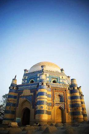 The Shrine of Bibi Jiwani at Uch Sharif. -Photo by Humayun M   18% grey