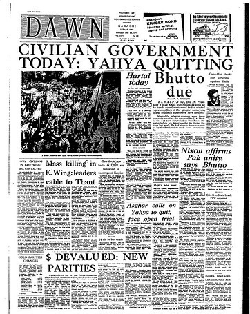A January 1972 edition of DAWN.
