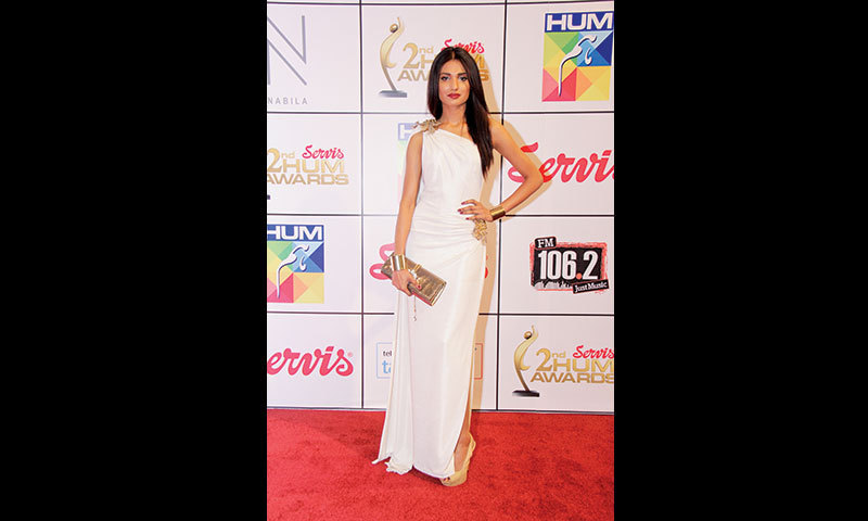 Amna Ilyas  in a stunning number by Shehla Chatoor.