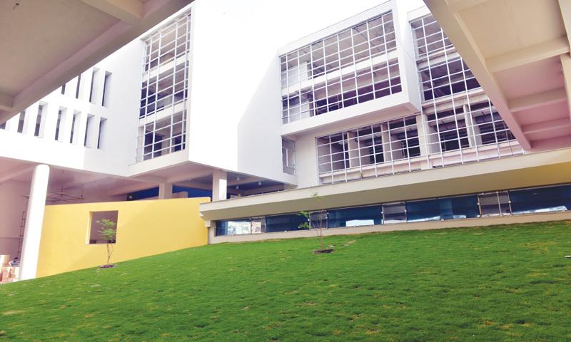 The compact Habib University campus