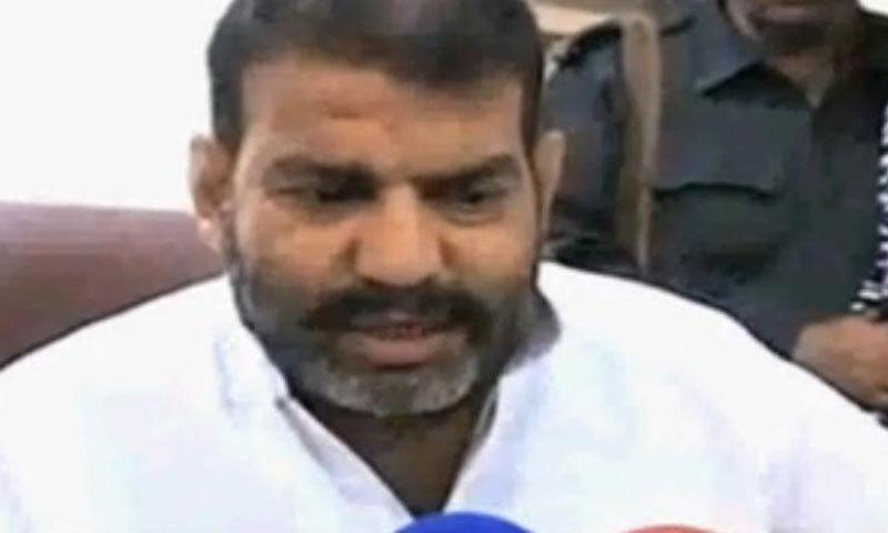 Police official Shafiq Tanoli. — Videograb