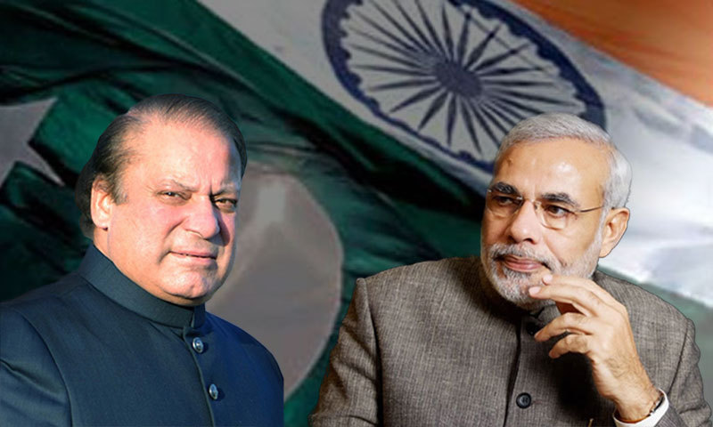 This was the first-ever contact between Pakistani Prime Minister Nawaz Sharif and Narendra Modi, the soon-to-be Indian prime minister.