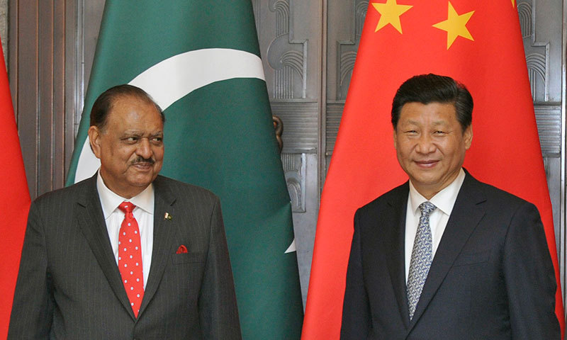 President Mamnoon Hussain and China's President Xi Jinping smile after a signing ceremony at the Xijiao State Guesthouse in Shanghai May 22, 2014. – Reuters Photo
