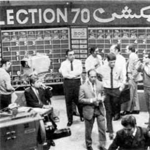 The Pakistan Television (PTV) 'election cell' covering the 1970 election.