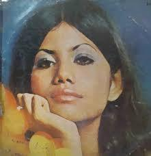 A 1973 wall poster of famous Pakistani pop singer, Runa Laila.
