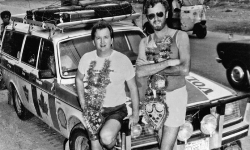 Canadian travellers in Multan, 1982. They were touring the world on their car.