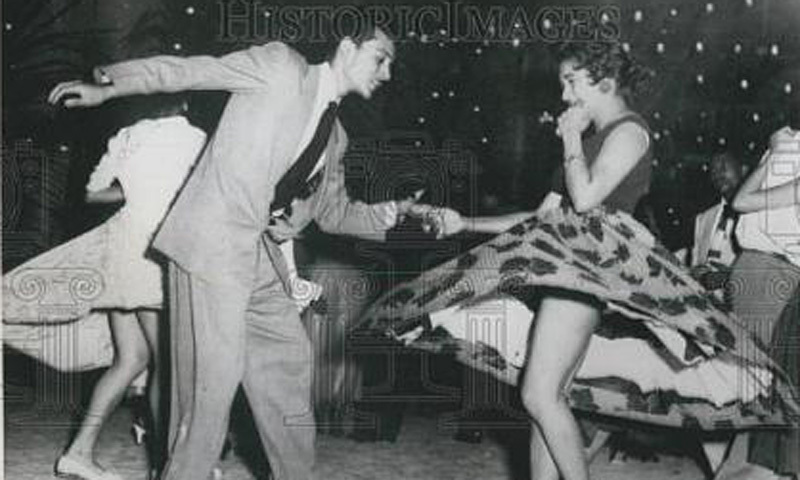 Couples dancing the night away on the 1955 New Year's Eve at Karachi's Hotel Metropole.