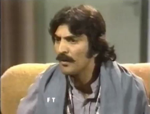 TV actor, Abid Ali, in one of PTV's most famous drama serials, Waris (1980).