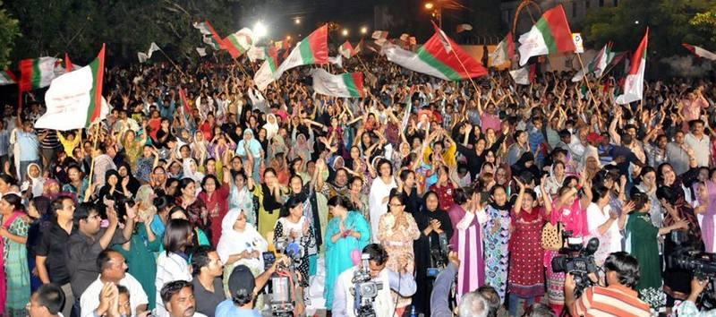 An MQM rally in Karachi.