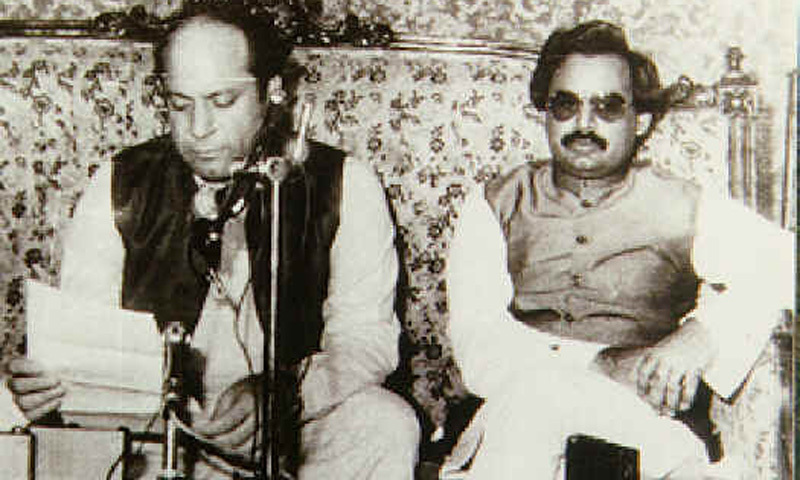 With PML-N leader, Nawaz Sharif in 1992.
