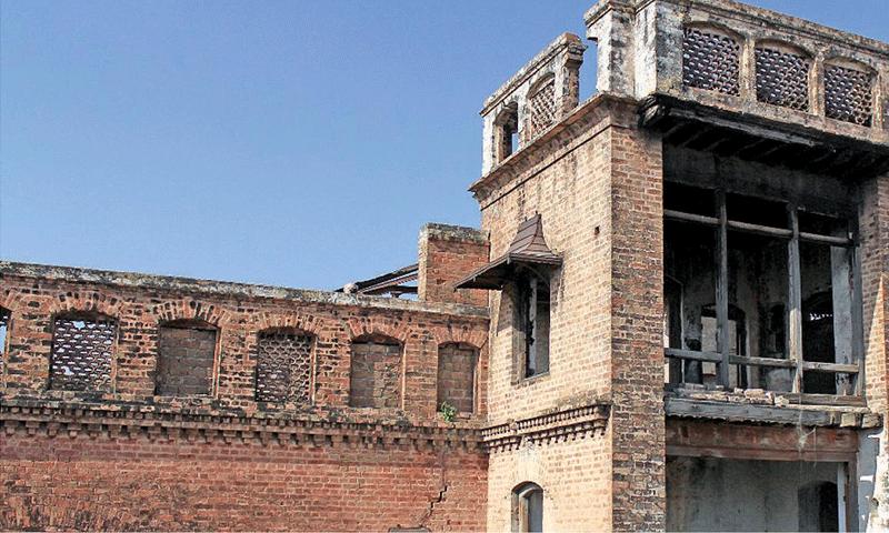 The façade  of the Soojhan Singh Haveli. — File photo