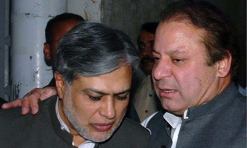 Finance Minister Ishaq Dar and Prime Minister Nawaz Sharif – File Photo