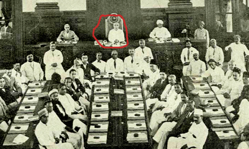 Jamshed presiding over a KMC meeting. — Public Domain Photo