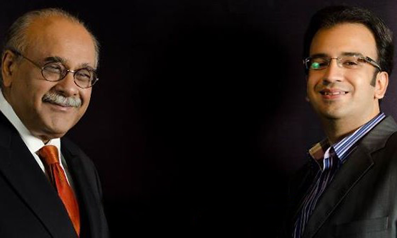 Najam Sethi and Muneeb Farooque.