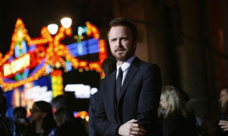 Cast member Aaron Paul poses at the premiere of the film ''Need for Speed'' at the TCL Chinese theatre in Hollywood, California March 6, 2014. – Photo by Reuters