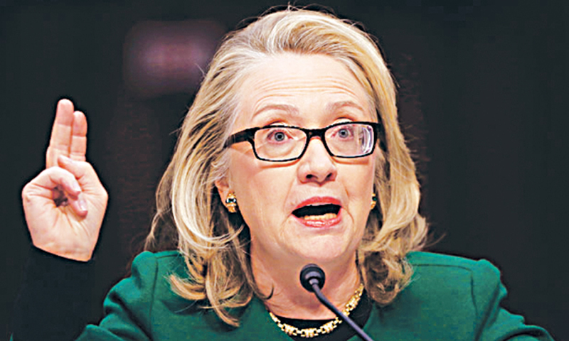 Former US secretary of state Hillary Clinton. -File photo