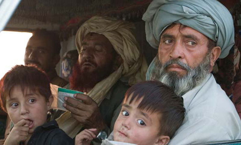 Internally Displaced Persons from the Waziristan tribal region leave their homes. – File photo by AP