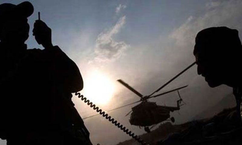 The ISPR said in a statement that the helicopter crashed due to a technical fault during a night flying training mission.File Photo