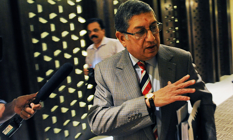 """It is an honour to be confirmed as the Chairman of the International Cricket Council,"" Srinivasan said in a statement. — Photo by AFP"