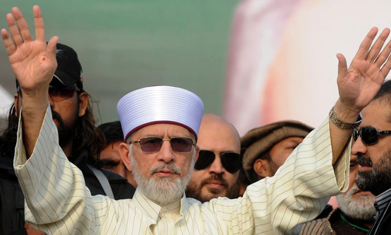 ?he govt is trying to tighten the noose around PAT chief Dr Tahirul Qadri, who vowed to topple the PML-N regime. — AFP file photo