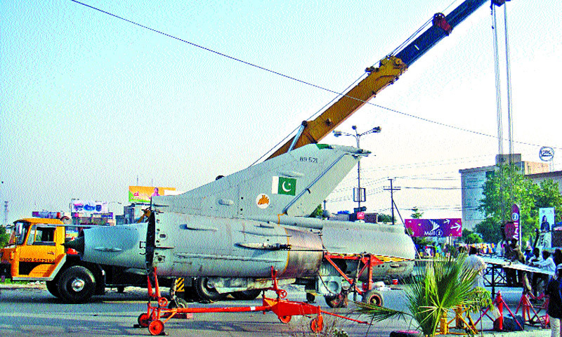 paf gifted aircraft being installed in gujranwala pakistan dawn com