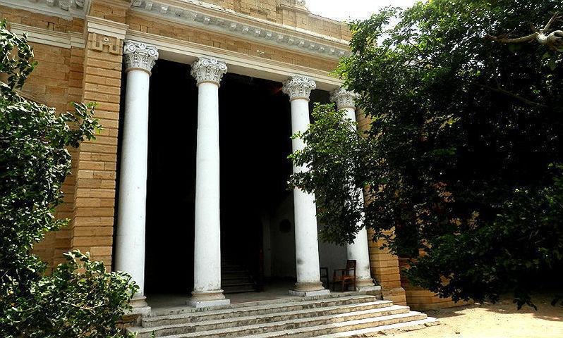 Entrance to the Freemason Hall in Karachi. —Photo by Akhtar Balouch