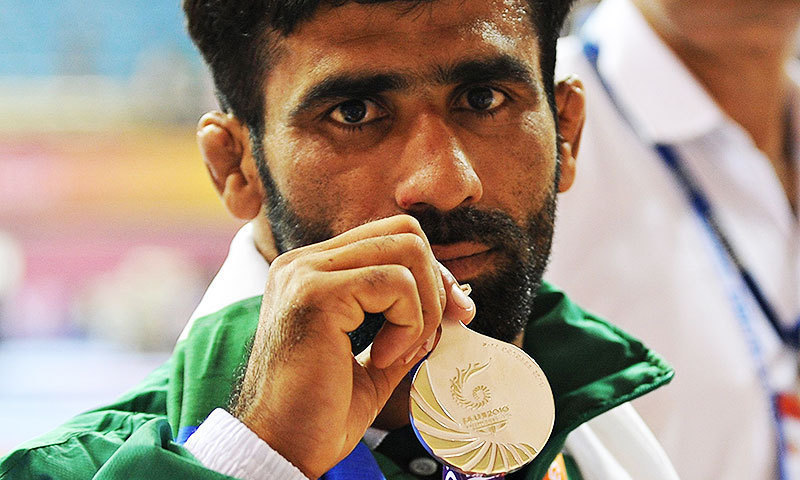 Azhar Hussain also won a gold medal in Delhi during 2010 Commonwealth Games. — File photo