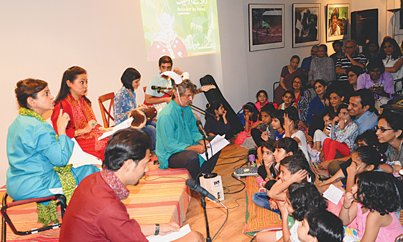 THE audience, mostly young ones, enjoy the storytelling session at the T2F on Sunday.—White Star