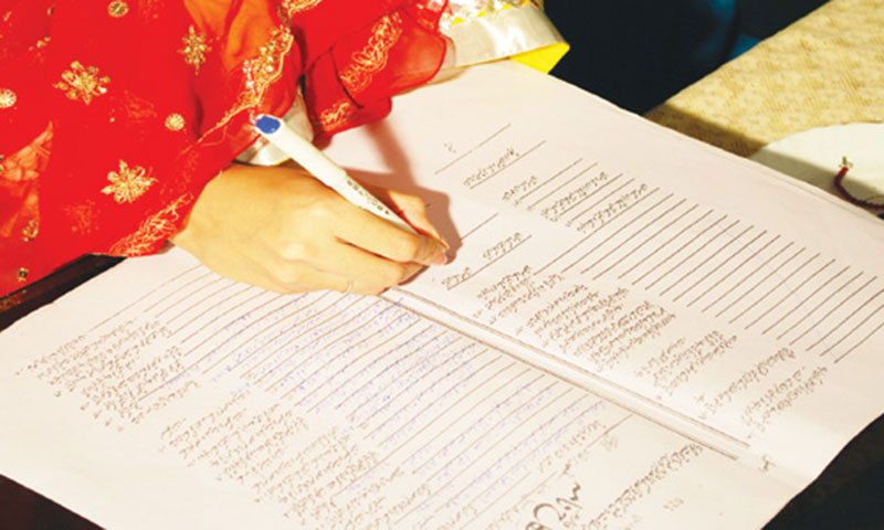 Most Women Not Consulted Before Filling Of Nikahnama Study