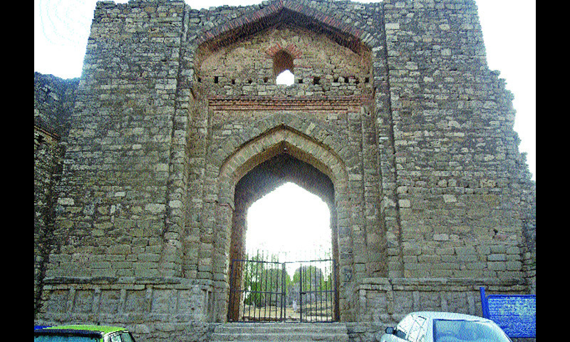 Front view of Rawat Fort's entrance towards the G. T. Road.