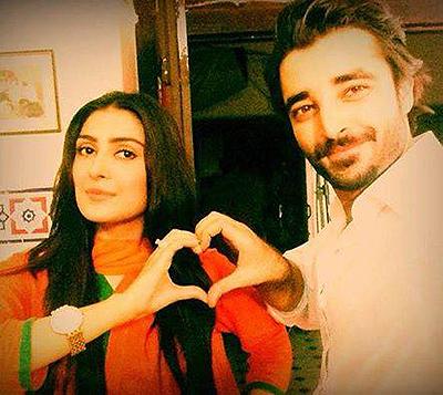 Hamza Abbasi with Aiza Khan