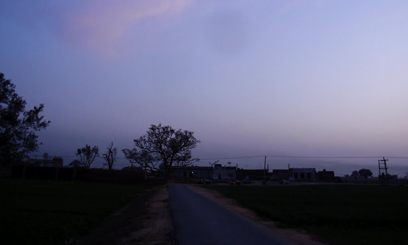 Life in  Aalam Pur Gondlan village after sunset.— Photo courtesy: panoramio.com