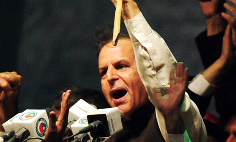 This picture shows elected Pakistan Tehreek-i-Insaf (PTI) president Javed Hashmi. — File photo/AFP
