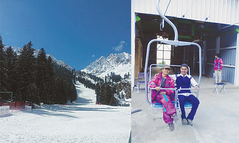 A chairlift ride, Photos by the writer