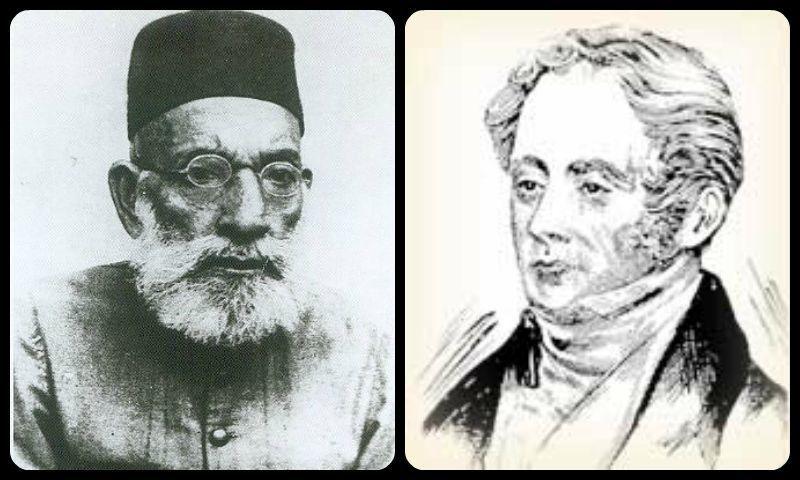 رابرٹ گرانٹ اور مولانا حسرت موہانی — فوٹو بشکریہ وکیمیڈیا کامنز / پاکستان ہیرالڈ